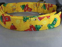 Fire Hydrants on Yellow Dog Collar