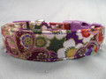 Purple Dog Collar Fancy Flowers Rescue Dog Collar