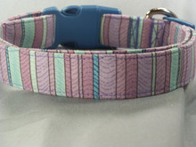 Purple Striped Dog Collar
