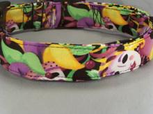 Mardi Gras Masks and Faces Dog Collar