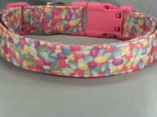 Jelly Beans Easter Dog Collar  Shown here with the Hot Pink side release buckle, other buckle colors are available.