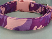 Pink and Purple Camouflage Dog Collar