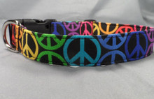 Peace Sign Dog Collar  Rescue Me Collars