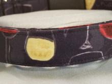 Wine glasses on Black Dog Collar