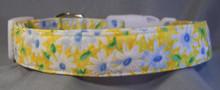 Yellow Daisy Dog Collar Daisy Flower on Yellow Dog Collar