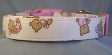 Pink Teddy Bear Puppy Dog Collar