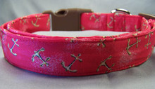 Anchors Aweigh Nautical Dog Collar Anchor Collar Rescue Me Collars