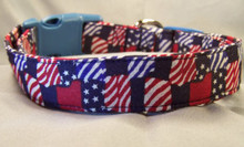 Patriotic Patchwork Dog Collar