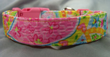 Paisley Dog Collar Bright Colorful Summer Colors