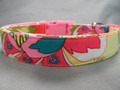 Psychedelic Hippie Flower Girl Dog Collar Rescue Me Dog Collar