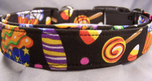 Colorful Halloween Sweet Treats Dog Collar