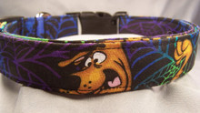 Scooby Doo Licensed Fabric Halloween Dog Collar Rescue Me Collar
