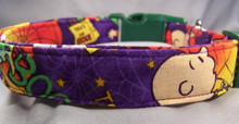 """The Great Pumpkin Charlie Brown"" Licensed Fabric Dog Collar"