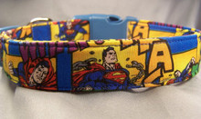 Licensed Fabric Superman Dog Collar