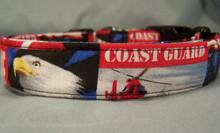 US Coast Guard Licensed Fabric Dog Collar