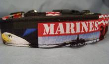 US Marine Corps Licensed Fabric Dog Collar