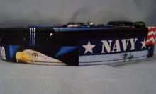 US Navy Licensed Fabric Dog Collar