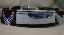 US Air Force Licensed Fabric Dog Collar
