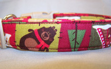 Country Life Holiday Dog Collar rescue me dog collar