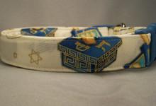 Gilded Dreidel Hanukkah  Dog Collar