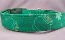 Pots of Gold and Shamrocks St. Patrick's Day Dog Collar