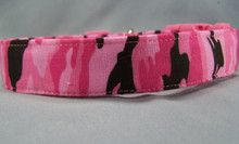 Pink and Black Camo Dog Collar Rescue Me Collars