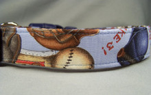 Batter Up Baseball Theme Dog Collar