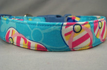 Beach Flip Flops on Blue Dog Collar