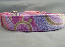 Cute Pastel Paisley Dog Collar