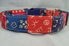 Western Wear Patriotic Dog Collar