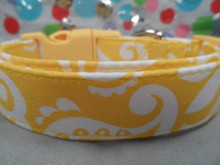 Summery Bright Yellow Dog Collar Rescue Me Collar