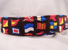 Sea Flags Nautical Dog Collar