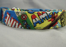 Marvel  Licensed Fabric Superhero Dog Collar