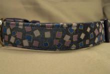 Confetti Dot Blue Dog Collar