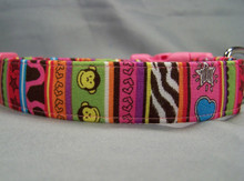 Funky Jungle Striped Dog Collar