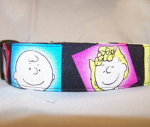 Licensed Fabric Peanuts Wide Dog Collar