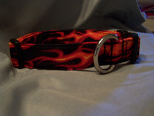 Sammy's Chemo Collar  Red Flames Dog Collar  Rescue Me Collars