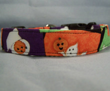Ghost Patch Halloween Dog Collar