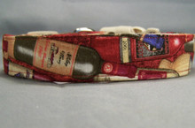 Red Vintage Wine Dog Collar