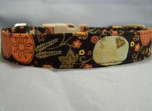 Folk Art Autumn Theme Dog Collar