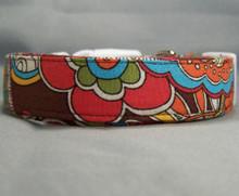 Retro Paisley on Brown Dog Collar
