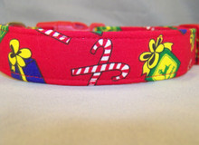 Licensed Fabric John Deere Christmas Dog Collar