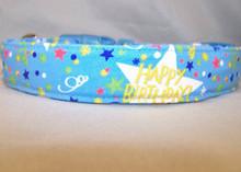 Birthday Celebration on Blue Dog Collar