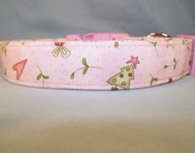 Pink Country Christmas Dog Collar