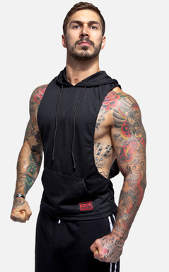Jack Adams Air Muscle Pullover Hoodie - Black