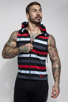 Bridgetown Zip Up Sleeveless Hoodie