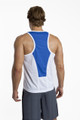 Race Tank Top - White with Blue Trim