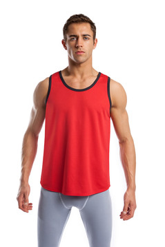 Air Classic Tank Top - Red with Black Trim