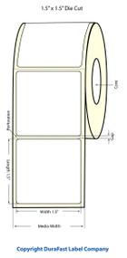 """Primera LX400 1.5""""x1.5"""" Matte BOPP Labels 1200/Roll"""