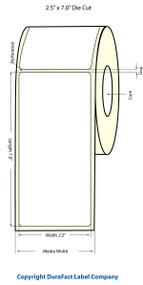 """Primera LX900 2.5""""x7""""  Matte BOPP Labels 300/Roll"""